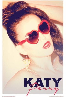 Athah Poster Katy Perry In Sunglasses Paper Print