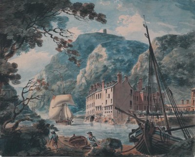 The Museum Outlet The Avon Gorge at Bristol, with the Old Hot Wells House (Medium) Canvas Painting(24 inch x 18 inch)