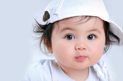 Cute Baby Yo Yo Hat Paper Print