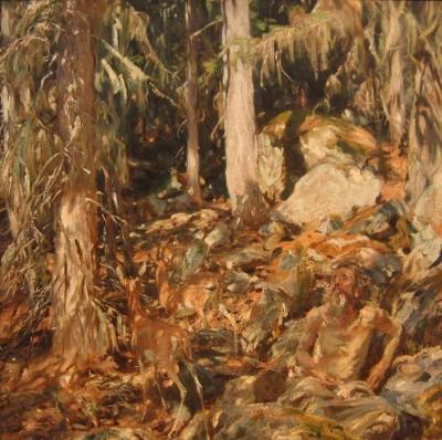 John Singer Sargent - The Hermit (Medium) Paper Print