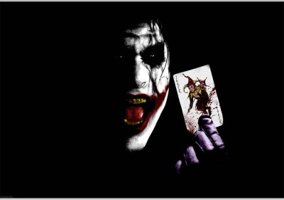 Joker CardPoster (18 x 12 Inches) by Shopkeeda Paper Print