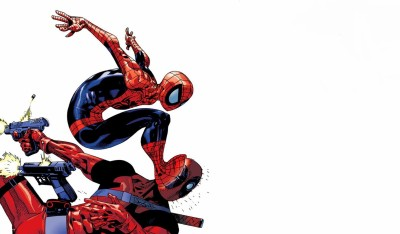 Deadpool: Monkey Business Deadpool Merc With A Mouth Spider-Man HD Wall Poster Paper Print