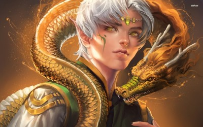 Draco-Elf - Dragon Age Athah Fine Quality Poster Paper Print