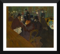 Tallenge Modern Masters Collection - At the Moulin Rouge: The Dance by Henri de Toulouse-Lautrec - Premium Quality A3 Size Framed Poster Paper Print