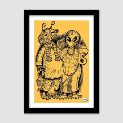 Athah Poster Alien Babu Glass Photographic Paper Paper Print