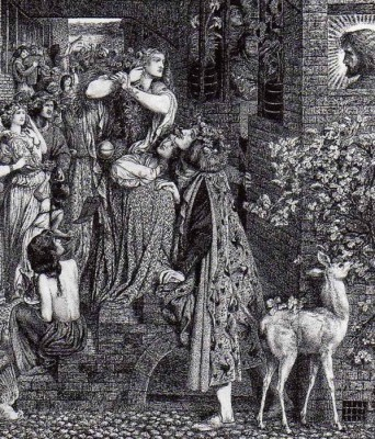 The Museum Outlet Mary Magdalen at the Door of Simon the Pharisee, 1858-59 (Medium) Canvas Painting