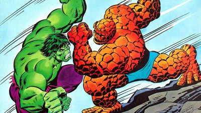Hulk Vs. Thing Hulk Frameless Fine Quality Poster Paper Print