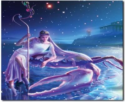 Stybuzz Cancer Horoscope Frameless Canvas Art(22 inch X 18 inch)