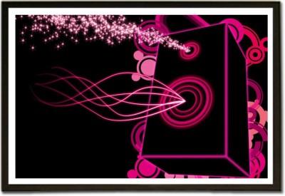 Framed Loud Speakers Music K Fine Art Print