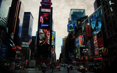 Athah Fine Quality Times Square poster Paper Print