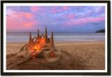 Framed Sand Castle Paper Print (13 inch ...