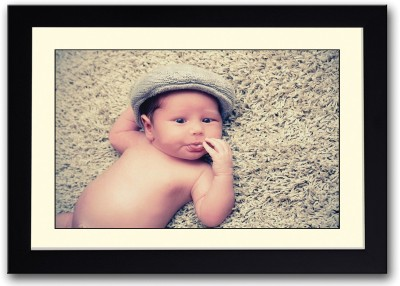 Cute Baby Sticking Tongue Out Fine Art Print