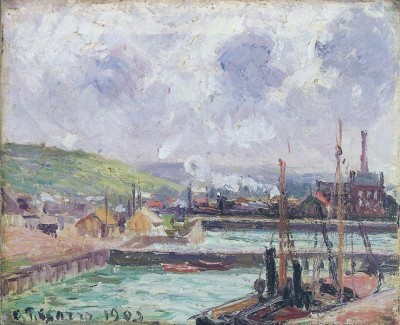 The Museum Outlet View of Duquesne and Berrigny Basins in Dieppe, 1902 (Medium) Canvas Painting