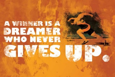 StyBuzz never gives up quote poster Phot...