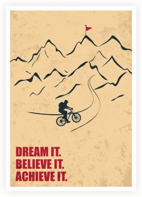 Dream It, Believe It, Achieve It Business Quotes Paper Print