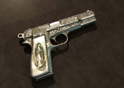 Pistol Fine Art Print(28 inch X 20 inch, Rolled)