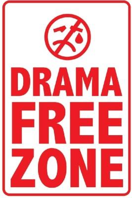 Seven Rays Drama Free Zone Paper Print