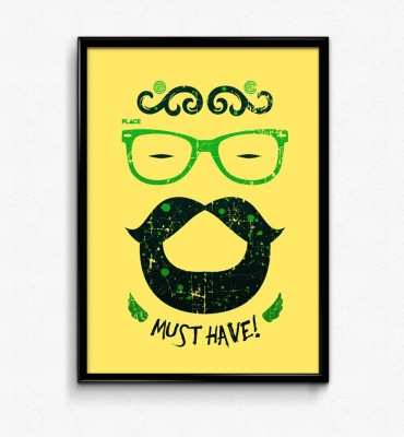 Must Have Specs Beard Paper Print