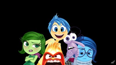 Movie Inside Out Anger Disgust Fear Sadness Joy HD Wall Poster Paper Print