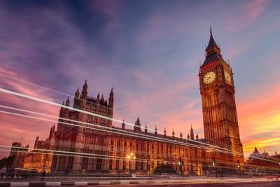 Westminster Palace - Elizabeth Tower Paper Print