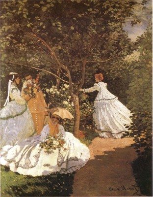 Femmes au jardin 1867 by Monet Fine Art Print