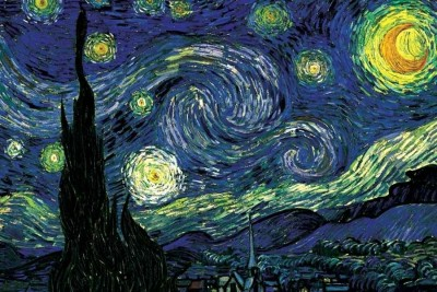 Starry Night by Vincent van Gogh Paper Print(12 inch X 18 inch, Rolled)