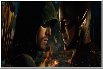 The Flash And Arrow Poster Paper Print