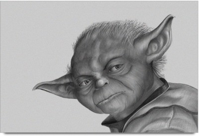 Master Yoda Sketch Paper Print
