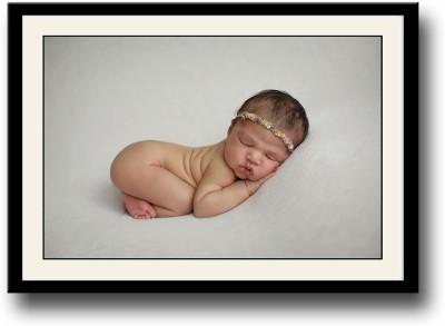 Cute baby with a cute hair band Fine Art Print
