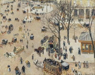 Place du Theatre Francais, 1898 (Medium) Paper Print