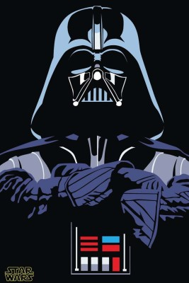 Darth Vader Star Wars Villain Hollywood S-P757 By Spoilt Paper Print