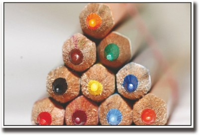 Athah Poster Colored Pencils Photography Paper Print