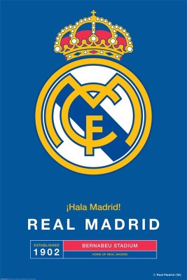 Real Madrid F.C. Mini Poster Crest 33 Paper Print(18 inch X 12 inch, Rolled)
