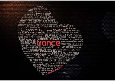 Trance Poster (18 x 12 Inches) by Shopkeeda Paper Print