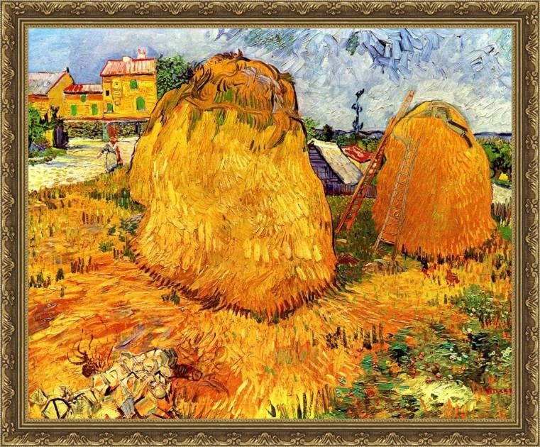 Haystacks In Provence2 - ArtsNyou Printed Paintings Canvas Art