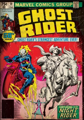 Ghost rider - night rider poster (Officially Licensed) Paper Print