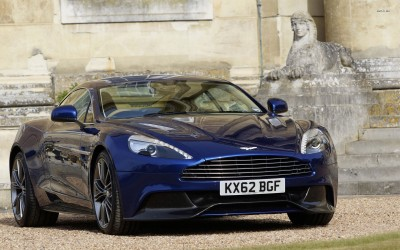 Athah Aston Martin Vanquish front view Poster Paper Print