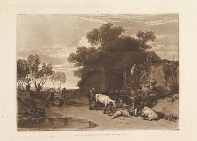 The Straw Yard, 1808 (Medium) Paper Print