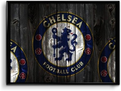 Chelsea FC Wooden Pattern Canvas Art