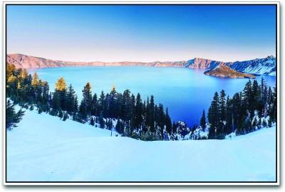 Crater Lake in Winters Paper Print