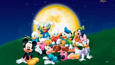 Cartoon Disney Family Paper Print
