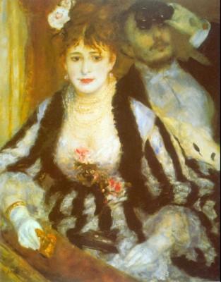 Theatre Box by Renoir Paper Print