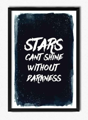 Seven Rays Stars Can,t Shine Without Darkness Framed Poster Paper Print