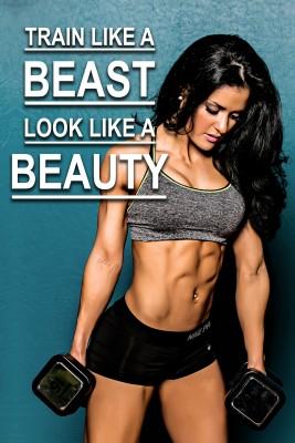 Train Like a Beast Look Like a Beauty Paper Print