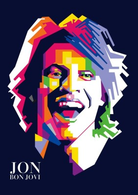 Jon Bon Jovi - Rock Music A3 Cotton Canvas High Quality Printed Poster - Wall Art Print (Size : 11.7 x 16.5) , For Bedroom , Living Room, Kitchen, Office, Room Canvas Art