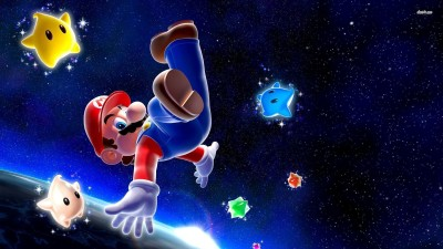 Mario - Super Mario Galaxy Athah Fine Quality Poster Paper Print