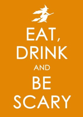 Athah Poster Keep Calm And Eat Drink And Be Scary NON TEARABLE Paper Print Rolled In Cardboard Tube Paper Print