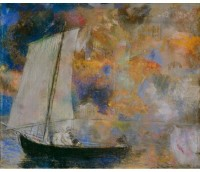 Tallenge Modern Masters Collection - Flower Clouds by Odilon Redon - A3 Size Premium Quality Rolled Poster Paper Print