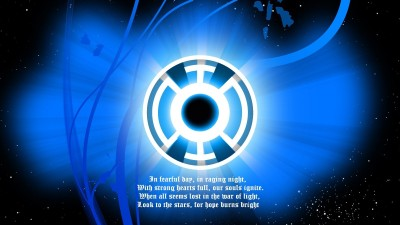 Blue Lantern Corps Blue Lantern Frameless Fine Quality Poster Fine Art Print