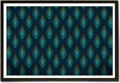 Framed 3D Blue Raised Surface Pattern Paper Print